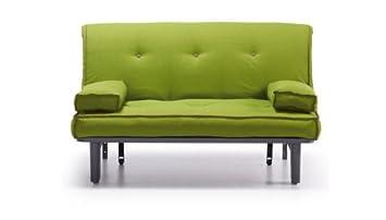 Confortshop Sofa Cama 140 cm. tipo futon Color Verde Pistacho