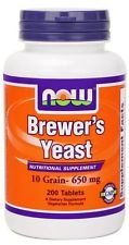 NOW Foods, Brewer's Yeast 650 Mg. - 200 Vegetarian Tablets (1) by NitikanShop ()