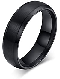 mens classic black titanium steel ring plain wedding band ring polished charm matte finished - Titanium Mens Wedding Rings