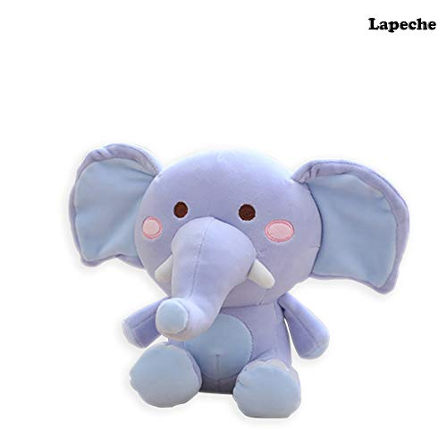 - lapeche Stuffed Elephant Plush Animal Toy,25cm Blue