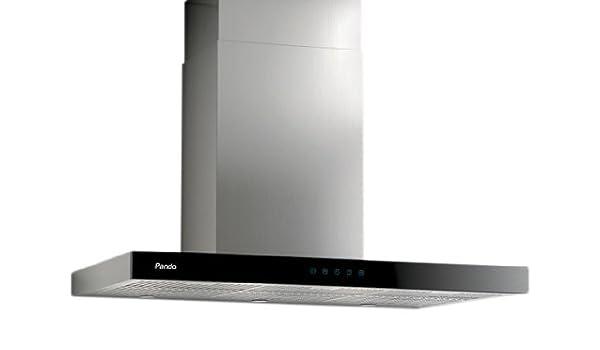 Pando P-826 680 m³/h De pared Negro, Acero inoxidable - Campana (680 m³/h, Canalizado, 38 dB, 55 dB, De pared, Negro, Acero inoxidable): Amazon.es: Hogar