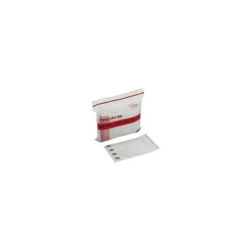 6X9-4Mil Minigrip Red Line Bag With White Block & Resin Id Symbol