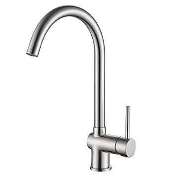 Sontiy Wasserhahn für Küchen-Spüle, Einhandmischer, Schwenkauslauf ...