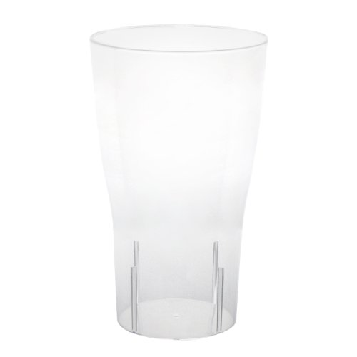 Party Essentials Hard Plastic Pint Glass, 16-Ounce Capacity, Clear (Case of 120) -