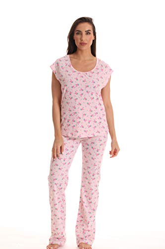 Dreamcrest 100% Cotton Pajama Pant Set for Women 6781-10417-PNK-L Pink