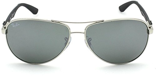 New Ray Ban Tech RB8313 003/40 Silver/Grey Mirror Lens 58mm - 40 Ban Ray