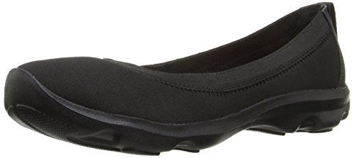 crocs Women's Busy Day Stretch Flat, Black/Black, 9 M US
