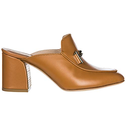 Marron Double T Tod's Cuir Femme Chaussures Sabots En nwF40XSq