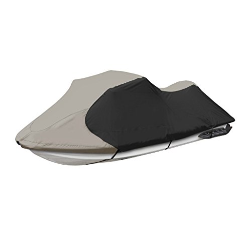 (Jetpro Trailerable PWC Watercraft Jet Ski Cover Gray/Black Color Fits from 126
