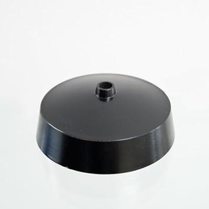 Embellecedor para lámpara de techo, color negro