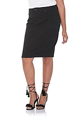 Suko Women's Pencil Skirt – Plus Size – Ponte Knit