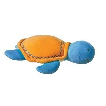 Mary Meyer Organic Cotton Plush Turtle Rattle - Orange -