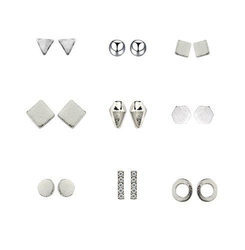 Shoopic Earrings Minimalist Geometric Triangle