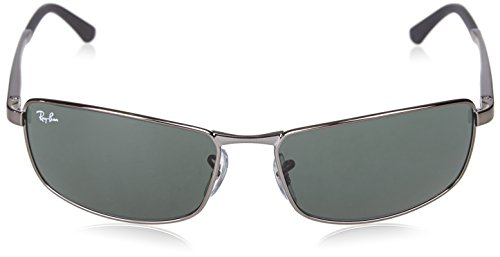 05c8b792fa Amazon.com  Ray-Ban 0RB3498 Rectangular Sunglasses  Clothing