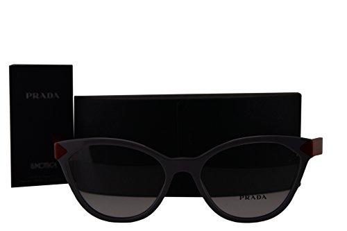 Prada PR02TV Eyeglasses 52-17-140 Grey w/Demo Clear Lens UR91O1 VPR02T VPR 02T PR - Square Grey Pr