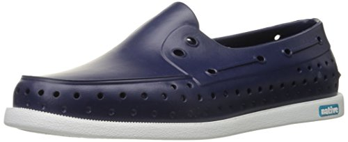 Native Men's Boat Shoe Shell Howard Regatta White Blue Br67qBcwW