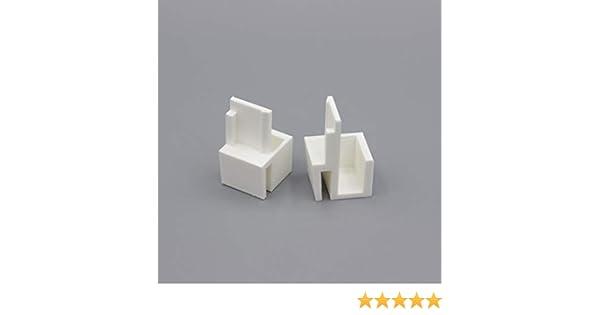 3DKStore - Juego de 4 Pares de guías Blancas compatibles con armarios, Formato y Optimum: Amazon.es: Hogar