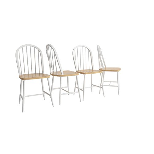 Natural / White Chair  by Coaster Furniture