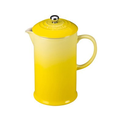 Le Creuset Soleil Yellow Stoneware 27 Ounce French Press Coffee Maker