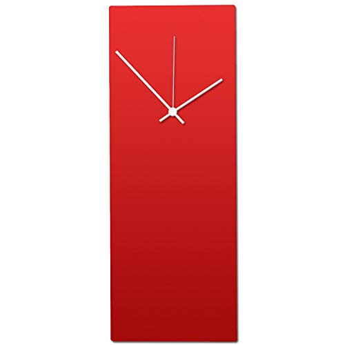 Metal Art Studio Redout White Clock Contemporary Wall Decor Small Red...