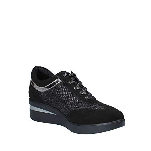 Roma Scarpe Gattinoni Pin0808 Donna Nero Leggera Logata Sneakers FOq48