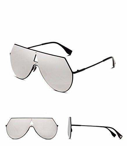 Xiaogege De Cuadro Versión Marea Vínculo Sol Coreana La Nueva Rosa Moda Gafas Silver Npc 1q81wrX