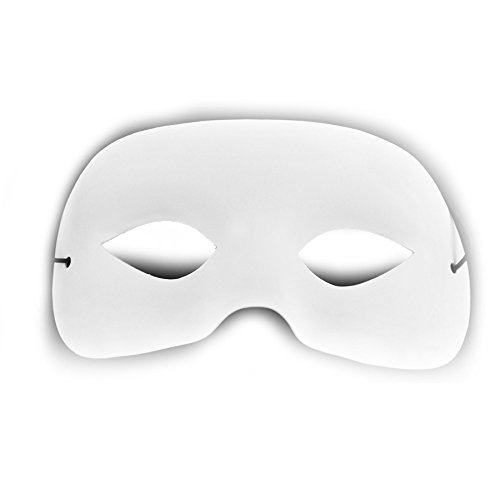 Mask It 71004 Half Mask Embellishment, (Halloween White Mask Designs)