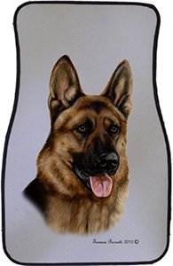 German Shepherd Car Floor Mats - Carepeted All Weather Universal Fit for Cars & Trucks by Unknown (Image #1)