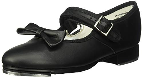 Capezio Kids Girl's Mary Jane - 3800C (Toddler/Little Kid) Black Leather Sneaker 2.5 Little Kid M