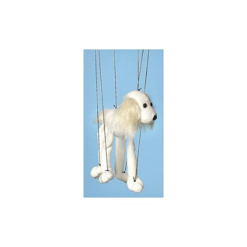 Sunny Puppets Dog (White Mutt) Small Marionette