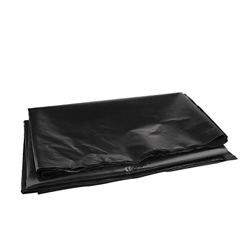 Develoo HDPE Rubber Pond Liner, 6.5 x 9.8 feet Black Pond Liner Membrane for Water Garden, Garden Fish Ponds, Lotus Ponds, Streams Fountains
