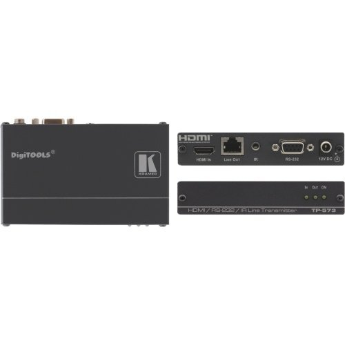 Port Rs 232 Extender - Kramer Electronics TP-573 HDMI RS-232 and IR Over Twisted Pair Transmitter