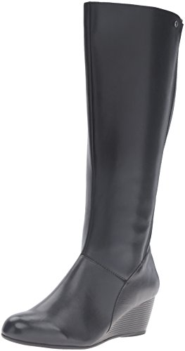 Hush Puppies Women's Pynical Rhea Boot, Black, US Black Leather