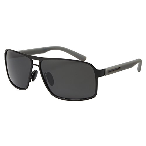 FSK Polarized Sunglasses for Men Large Size FSK8562 (Black - Color Sunglasses Polarized