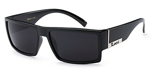 Locs Gangster Sunglasses Black Silver
