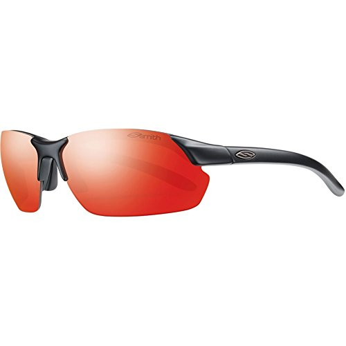 Smith Optics Parallel Max Sunglasses, Matte Black Frame, Green Sol-X Carbonic TLT Lenses Changeable Matte Black Frame