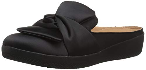 FitFlop Women's Superskate Knot Loafer Flat, Black, 8.5 M US