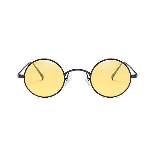 yellow soleil de Pilote de de plein la Petite Lunettes ronde Voyager Miroir de Réfléchissant polarisées voler zone Pour couleur approprié Grenouille pilote de Film Polarisée Sports air Lunettes 5pnxqg8w