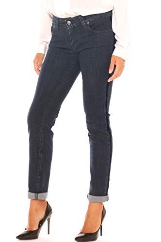 Cotone Laterali Velluto Skinny Bande Con Denim Donna Jeans Freesketch In npW1XXT