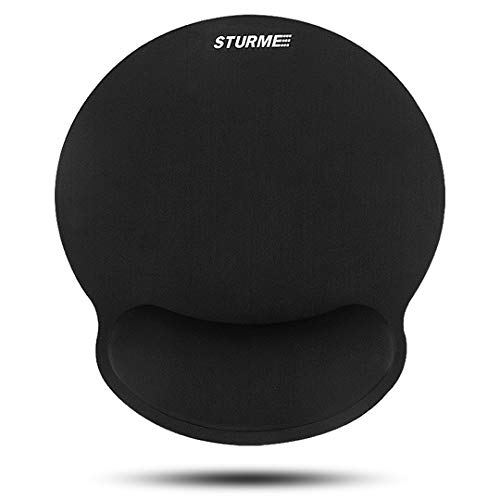 STURME Soft Memory Foam Gel Mouse Pad with Wrist Support Non-Slip Base Ergonomic Silicone Wrist Rest for Computer, Laptop, Mac, Gaming & Office Durable & Comfortable for Easy Typing