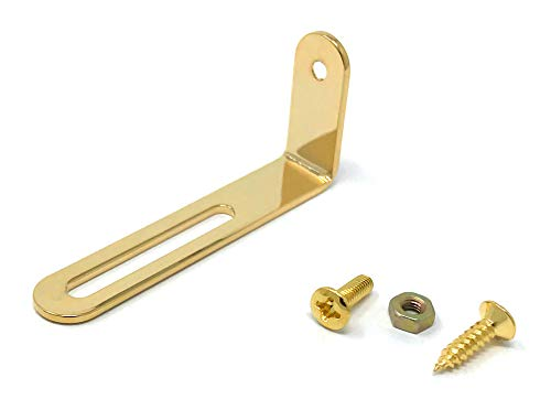 Gold Pickguard Mounting Bracket for Gibson Epiphone Les Paul Electric Guitar with Screws by VINTAGE FORGE | LPB20-GLD