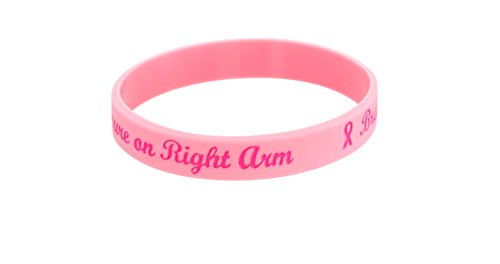 (Forge Breast Cancer Awareness Silicone Bracelet No Needle or Blood Pressure (Right Arm))
