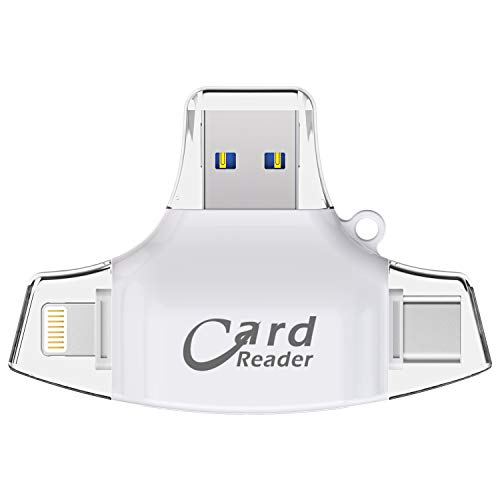 EARNER 4IN1 Card Reader for iPhone Android and Computer, TF Card and SD Card