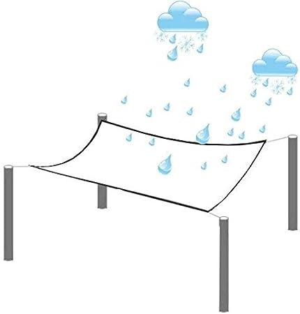 K-Flame Transparent Plane Wasserdicht Plane mit /Ösen Draussen PVC Weiches Glas UV K/ältebest/ändig Regenfest Staubschutz-1X1m Clear