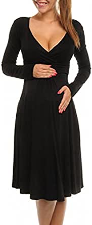 TINYHI Women s Maternity Long Sleeves Dresses for Baby