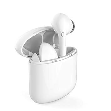 DOJA Barcelona | Cascos Inalambricos Bluetooth 5.0 i9x Blanco | Auriculares de máxima Potencia y Calidad de Sonido | BATERIA 3H | Carga portatil ...