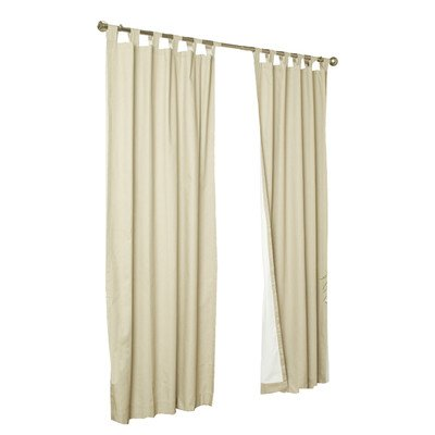 Thermalogic Weathermate Insulated Tab Top Curtain Pair-Natural, 80 x 72