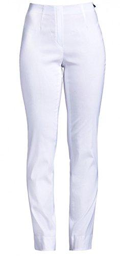 Stretchhosen Schlupfhosen Damen Hosen Robell Slim Fit # Marie versch.Farben (40, weiß)