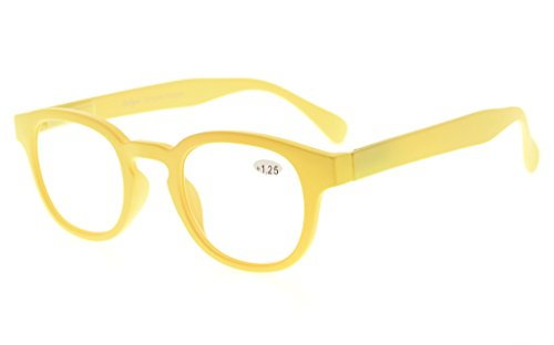 Amarillo espejo de mujeres arco Rojo 2 iris lente lectura Eyekepper marco gafas 50 7qfWSq0Z