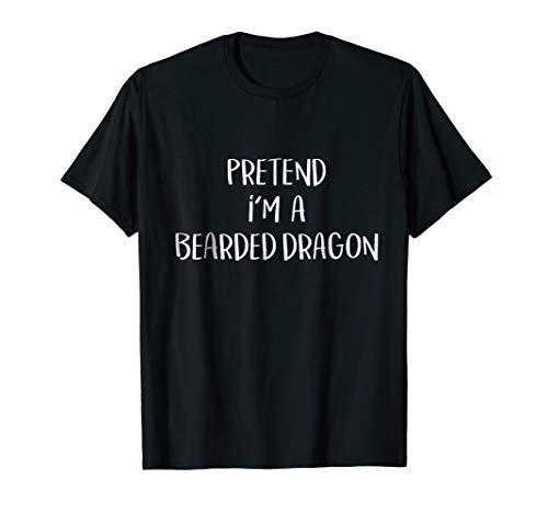 Pretend Bearded Dragon Costume Funny Halloween Party T-Shirt ()